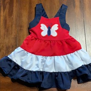 Red white and blue butterfly dress
